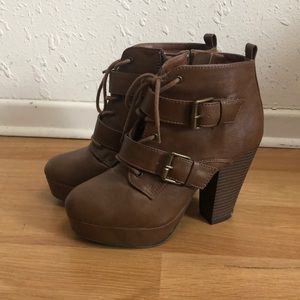 Brown Report Booties